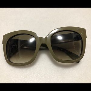 CELINE Olive Green Sunglasses NEW AUDREY CL 41805